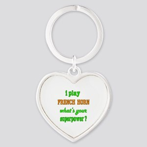 I play French Horn what's your supe Heart Keychain