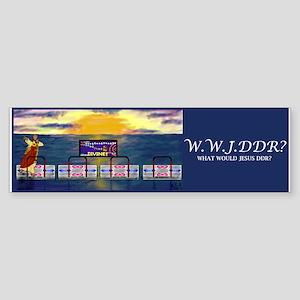 WWJDDR Bumper Sticker (Blue)