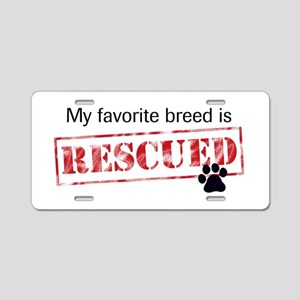 Favorite Breed Is Rescued Aluminum License Plate