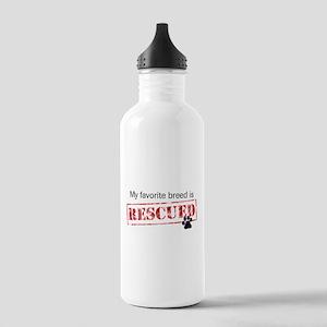 Favorite Breed Is Rescued Water Bottle 1 Liter