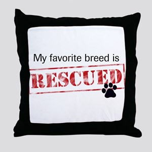 Favorite Breed Is Rescued Throw Pillow