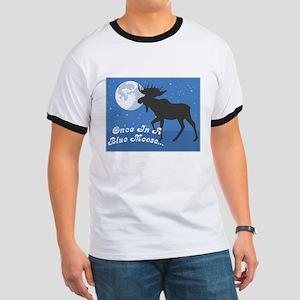 Once In A Blue Moose Ringer T