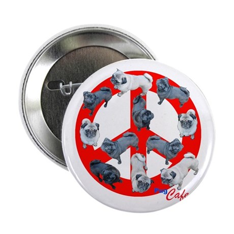 """Pugs for Peace 2.25"""" Button (10 pack)"""