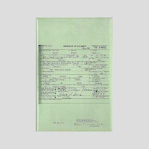 Obama Birth Certificate Rectangle Magnet