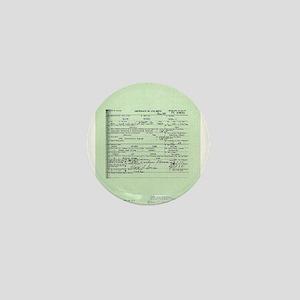 Obama Birth Certificate Mini Button