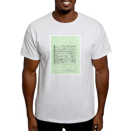 Obama Birth Certificate Light T-Shirt