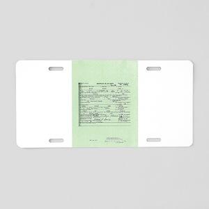 Obama Birth Certificate Aluminum License Plate