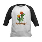 Spring Flowers Kids Baseball Jersey