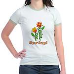 Spring Flowers Jr. Ringer T-Shirt