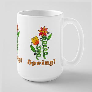 Spring Flowers Large Mug