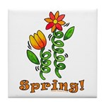 Spring Flowers Tile Coaster
