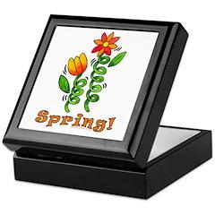 Spring Flowers Keepsake Box