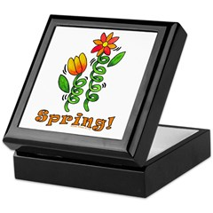 Spring Flowers Keepsake Box