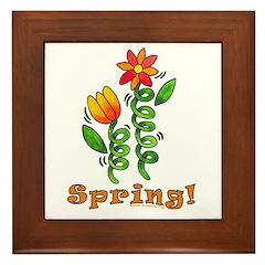 Spring Flowers Framed Tile