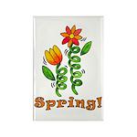 Spring Flowers Rectangle Magnet