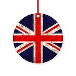 Grunge UK Flag Ornament (Round)