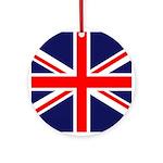 British Flag Ornament (Round)