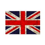 Grunge UK Flag Rectangle Magnet (100 pack)