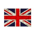 Grunge UK Flag Rectangle Magnet (10 pack)