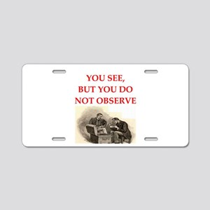 sherlock holmes Aluminum License Plate