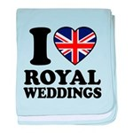 I Love Royal Weddings baby blanket