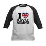 I Love Royal Weddings Kids Baseball Jersey
