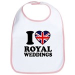 I Love Royal Weddings Bib