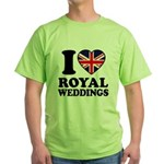 I Love Royal Weddings Green T-Shirt