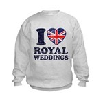 I Love Royal Weddings Kids Sweatshirt