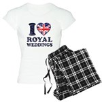 I Love Royal Weddings Women's Light Pajamas