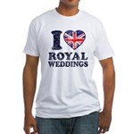 I Love Royal Weddings Fitted T-Shirt