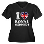 I Love Royal Weddings Women's Plus Size V-Neck Dar