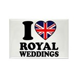 I Love Royal Weddings Rectangle Magnet (100 pack)