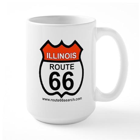 Illinois Route 66 Large Mug