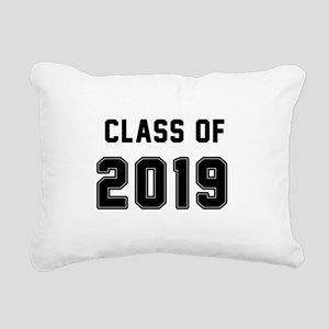 Class of 2019 Black Rectangular Canvas Pillow