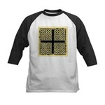 Celtic Square Cross (w/bg) Kids Baseball Jersey
