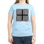 Celtic Square Cross Women's Pink T-Shirt
