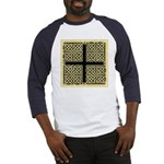 Celtic Square Cross (w/bg) Baseball Jersey