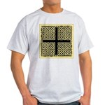 Celtic Square Cross (w/bg) Ash Grey T-Shirt