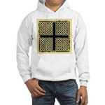 Celtic Square Cross (w/bg) Hooded Sweatshirt