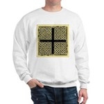 Celtic Square Cross (w/bg) Sweatshirt
