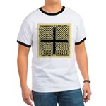 Celtic Square Cross (w/bg) Ringer T