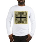Celtic Square Cross (w/bg) Long Sleeve T-Shirt