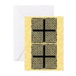 Celtic Square Cross Greeting Cards (Pk of 10)
