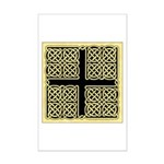 Celtic Square Cross (w/bg) Mini Poster Print