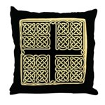 Celtic Square Cross (w/bg) Throw Pillow