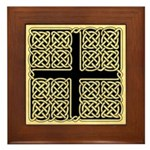 Celtic Square Cross Framed Tile