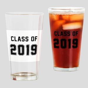 Class of 2019 Black Drinking Glass