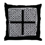 Celtic Square Cross Throw Pillow