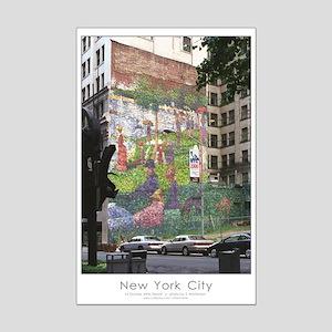Seurat mural NYC 11X17 Mini Poster Print